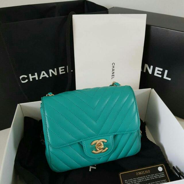 Chanel Mini Square Lamb