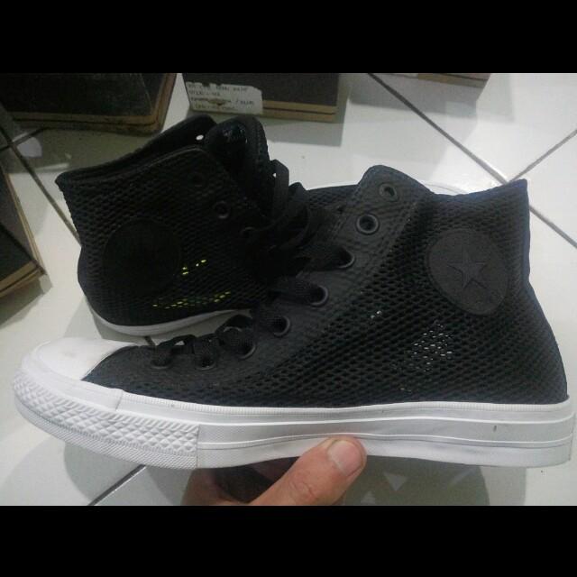 100a16044e6ba3 Converse black Chuck Taylor All Star II Open Knit 155731C-