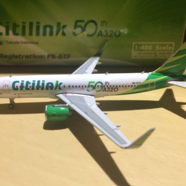 Diecast Pesawat Citilink / A320 Neo / PK-GTF / Skala 1:400 / By Phoenix