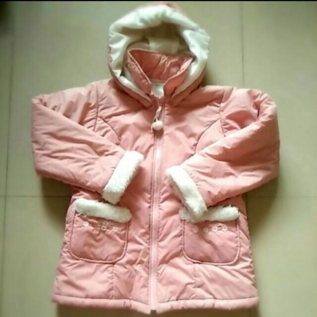 麗嬰房日系品牌Familiar舖棉連帽水蜜桃外套 #8歲 #女童 #外套 #日系品牌