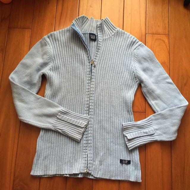 二手GAP 拉鍊針織外套 上衣 線衫 冷氣房罩衫