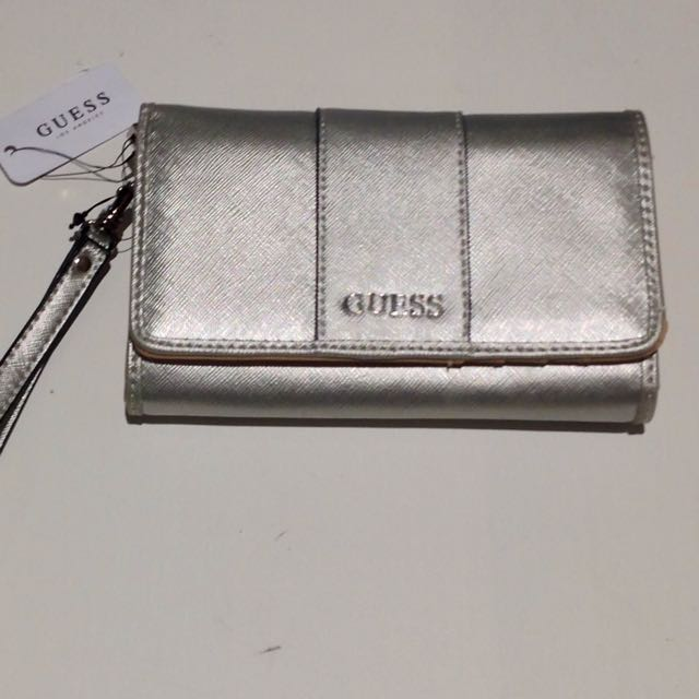 Genuine Guess Wallet/Purse Silver - Brand New