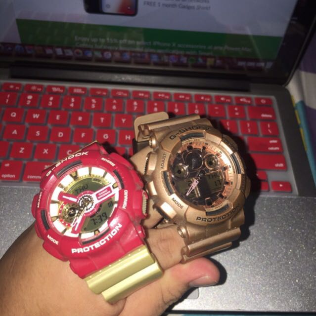 gshock ironman and rose gold 3k each or 5.5k both