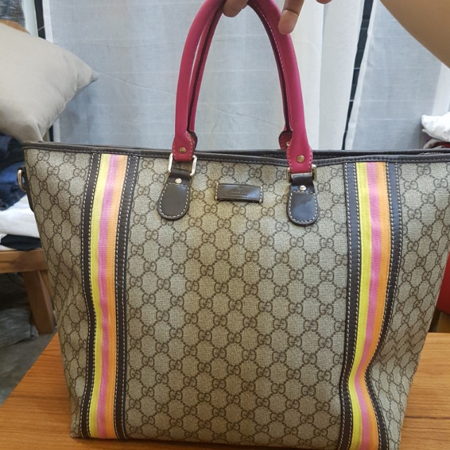 c96c12d34ee GUCCI RAINBOW WEEKEND TOTE on Carousell