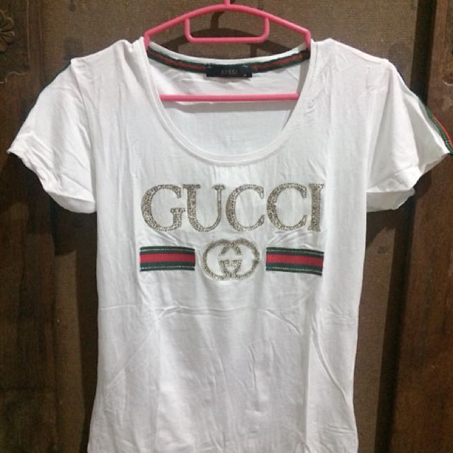 Gucci White Sequin Top