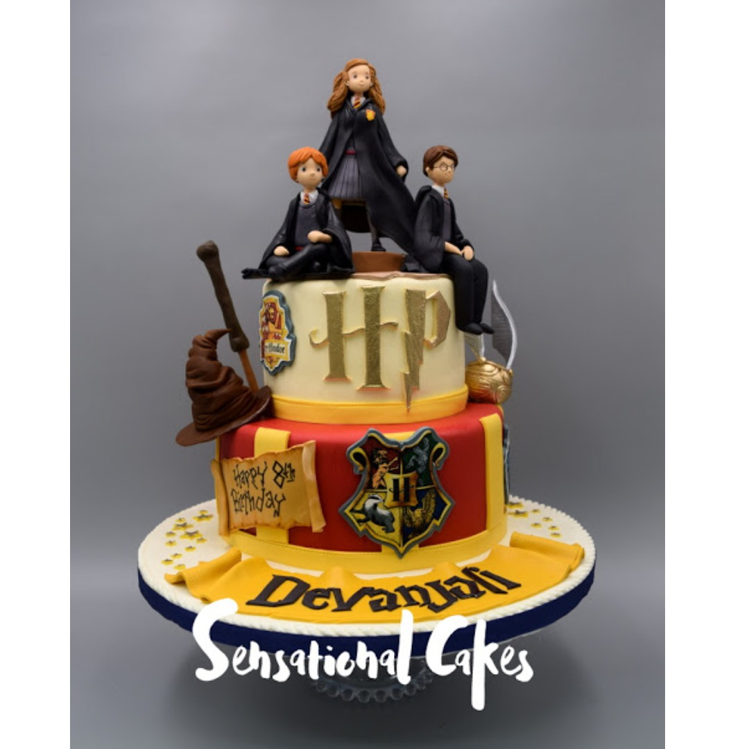 Harry Potter Hermione And Ron Inspired 3D Cake Singapore