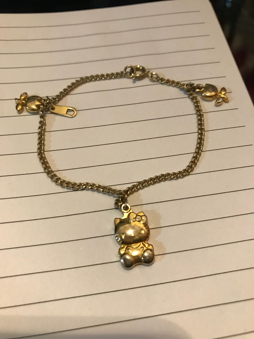 Stunning Hello Kitty Gold Bracelet Gallery - Jewelry Collection ...