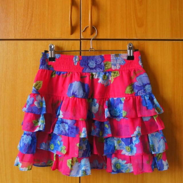Hollister Pink Floral Skirt