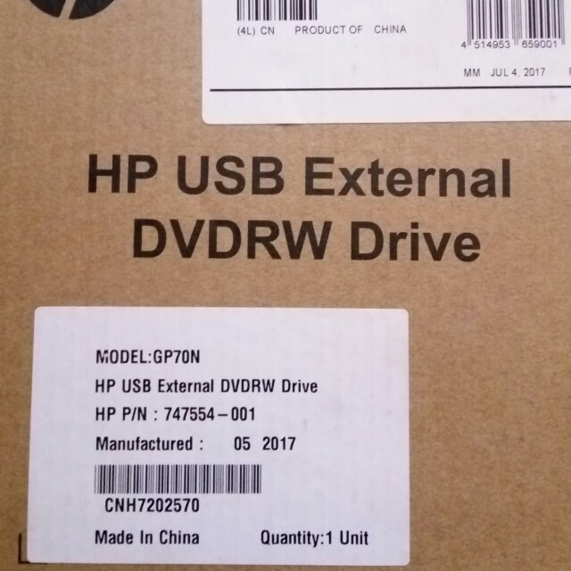 Repriced!!! HP USB External DVDRW Drive