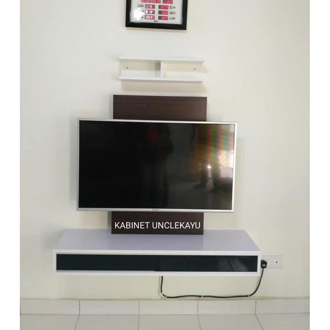 Kabinet Tv Gantung Floating Tv Cabinet Home Furniture Furniture On Carousell