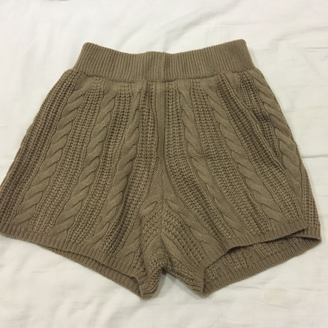 Knitted Shorts, Women\'s Fashion, Clothes, Pants, Jeans & Shorts on ...