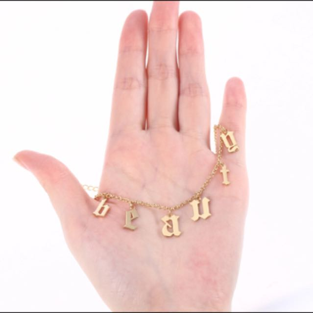 Letter Name Choker Necklace