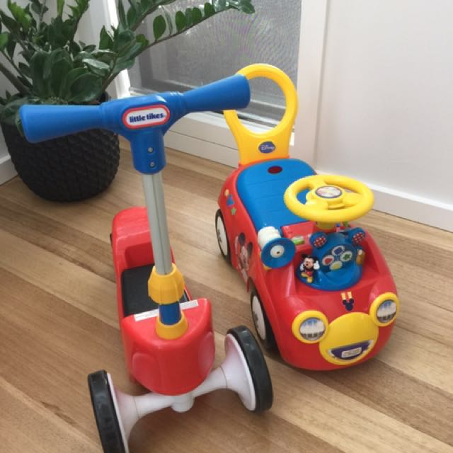Little Tikes Scooter Sit Mickey Mouse musical Walker Push Bike