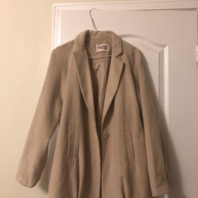 Long Beige Coat