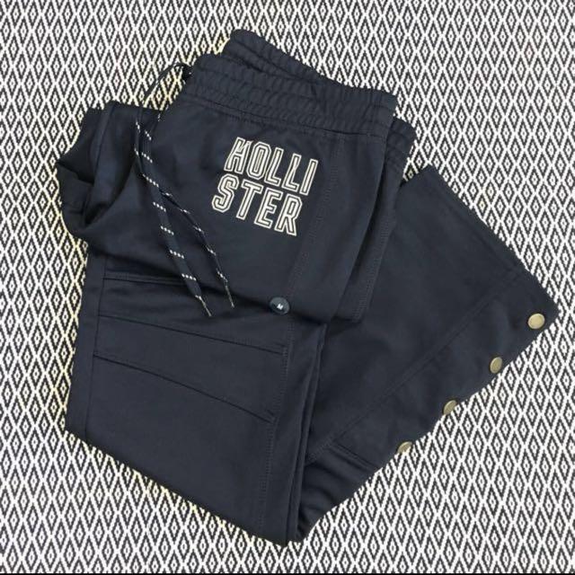 (M) Authentic Hollister Ladies Cali Sport Side-snap Graphic Track Pants