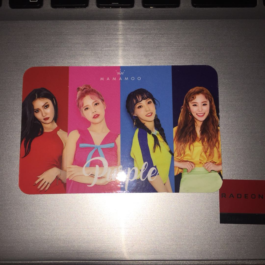 Mamamoo Limited & Special Asia Edition Photocard Purple Album