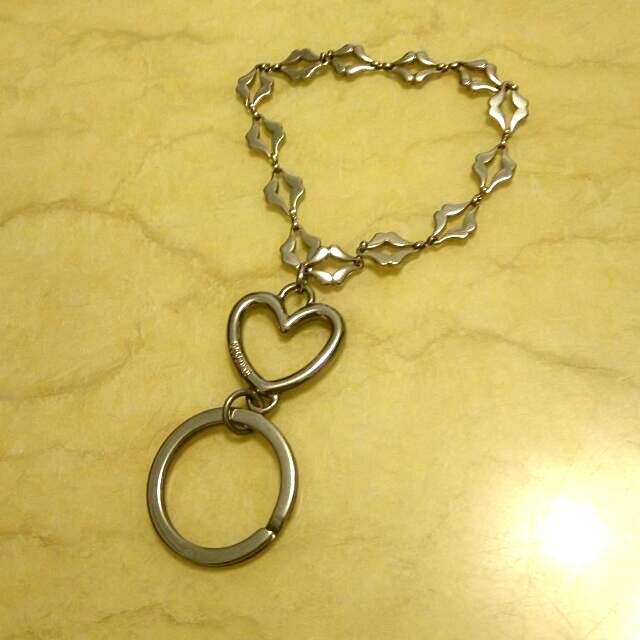 MOSCHINO時尚銀色手鍊鑰匙圈