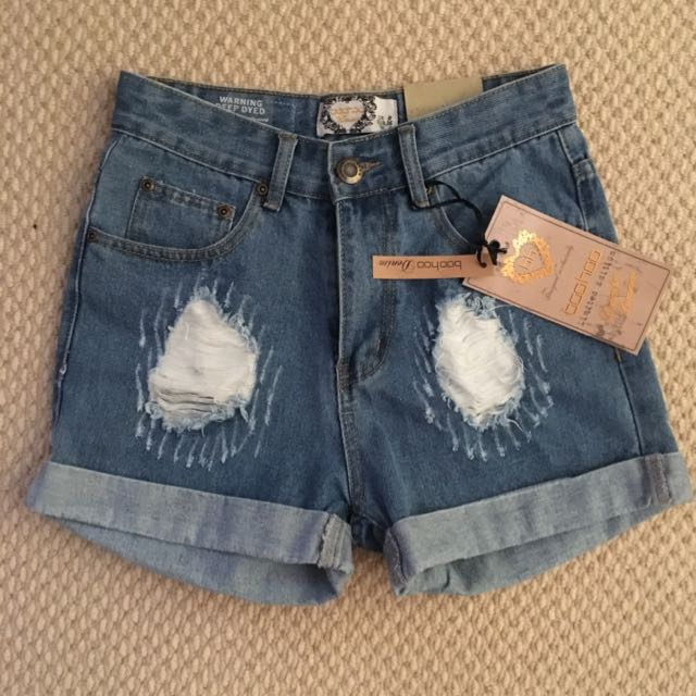New Boohoo Denim Shorts Size 8