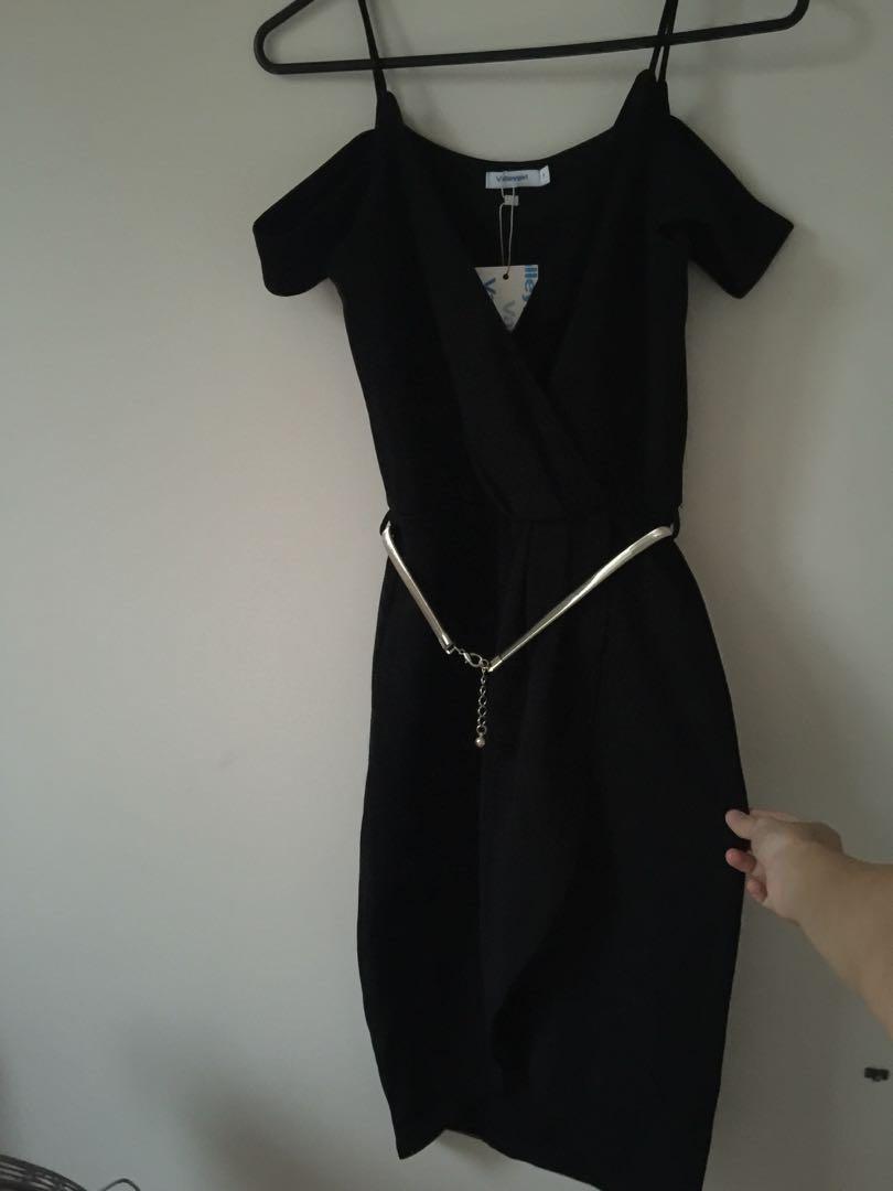 New ValleyGirl black dress with belt