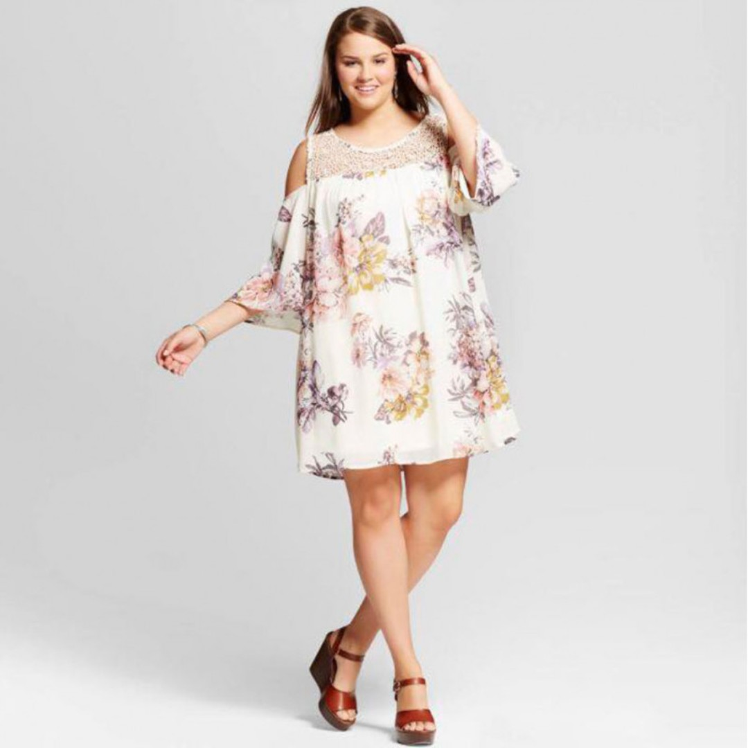 ONHAND Cold Shoulder Plus Size Dress