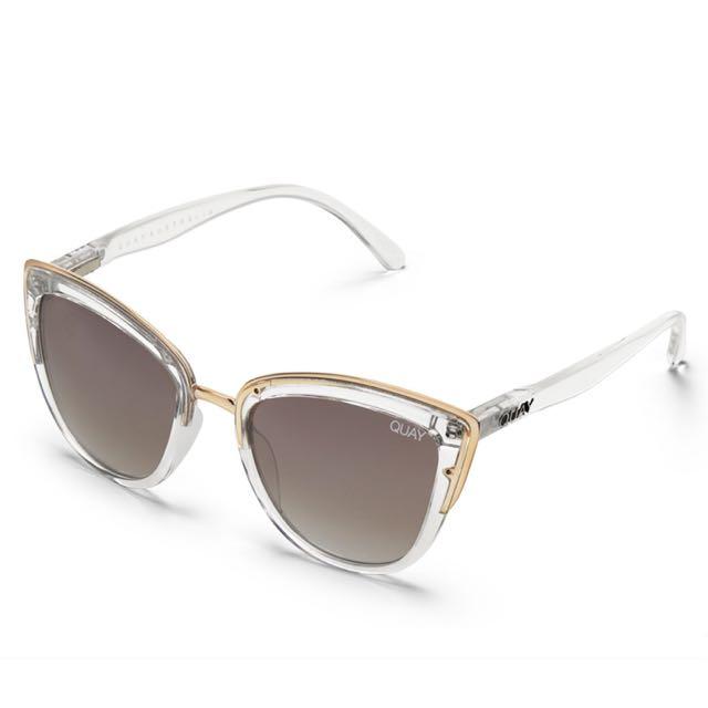 QUAY x Tony Bianco My Girl Clear Brown Sunglasses