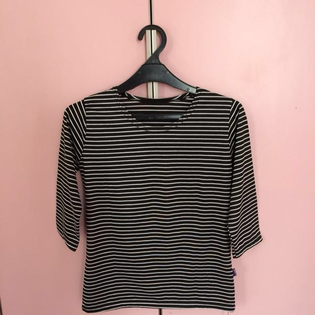 REPRICE bnw striped tee
