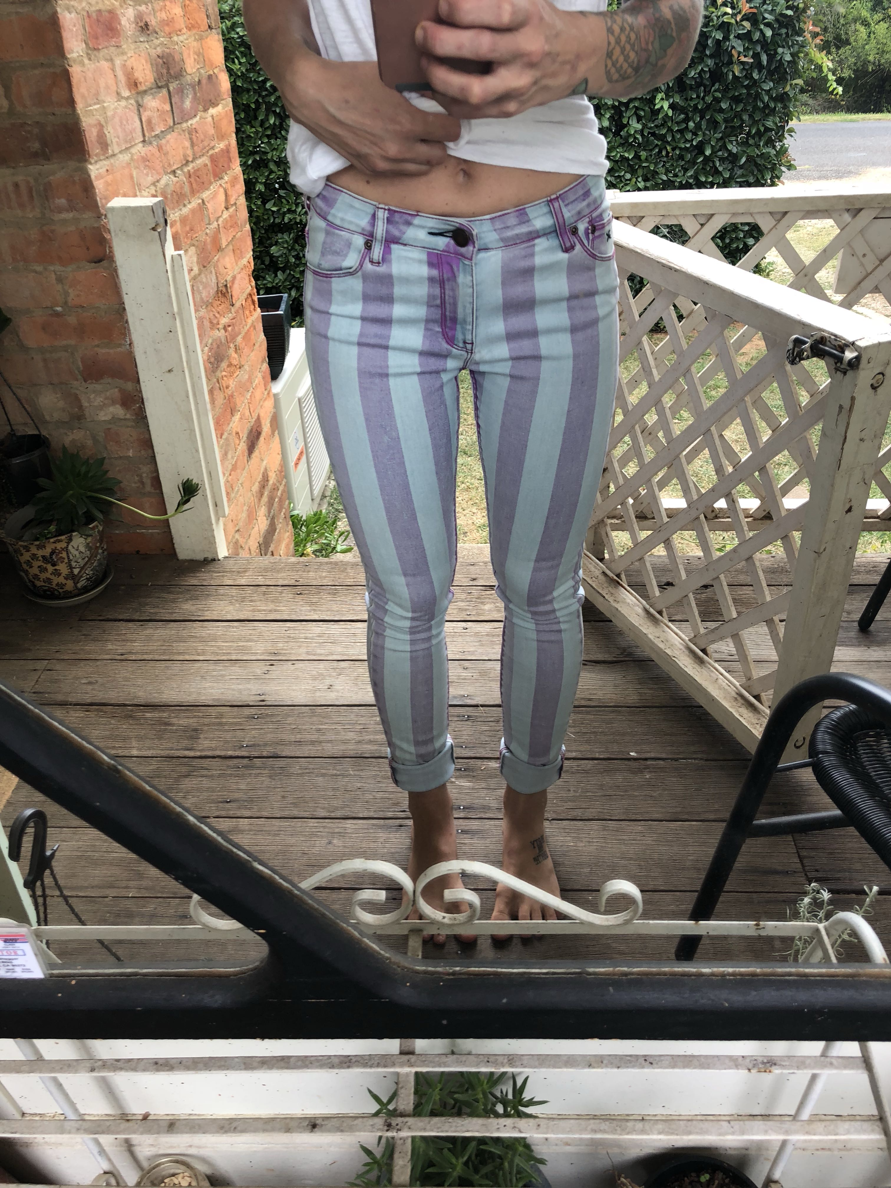 RES striped jeans