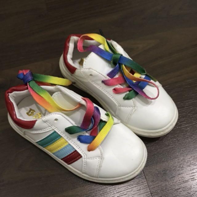 Sepatu sneaker rainbow size 27 ( new )