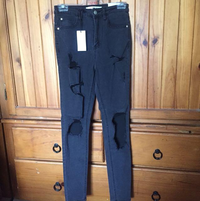 Supre highwaisted black jeans