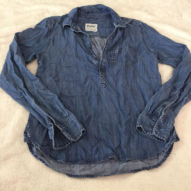 TNA denim shirt