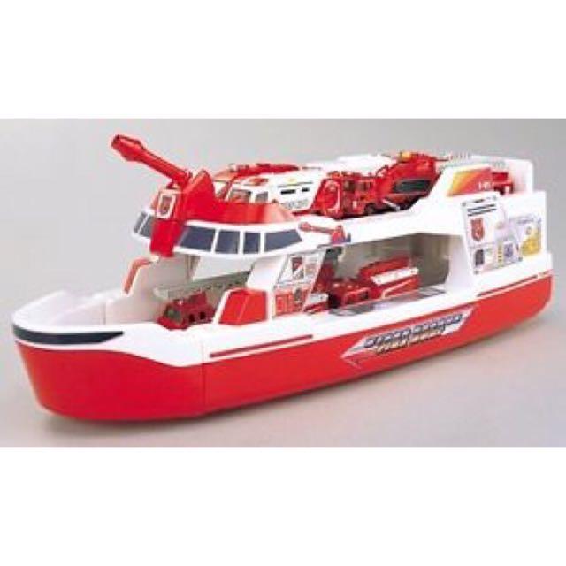 絕版Tomica Hyper rescate Ferry Boat 緊急救援部隊超大型運輸船 汽車玩具