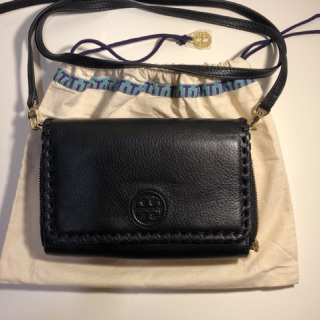Tory Burch Marion Flat Wallet (WOC)肩/斜/側 編織多卡夾小方包 9.9成新