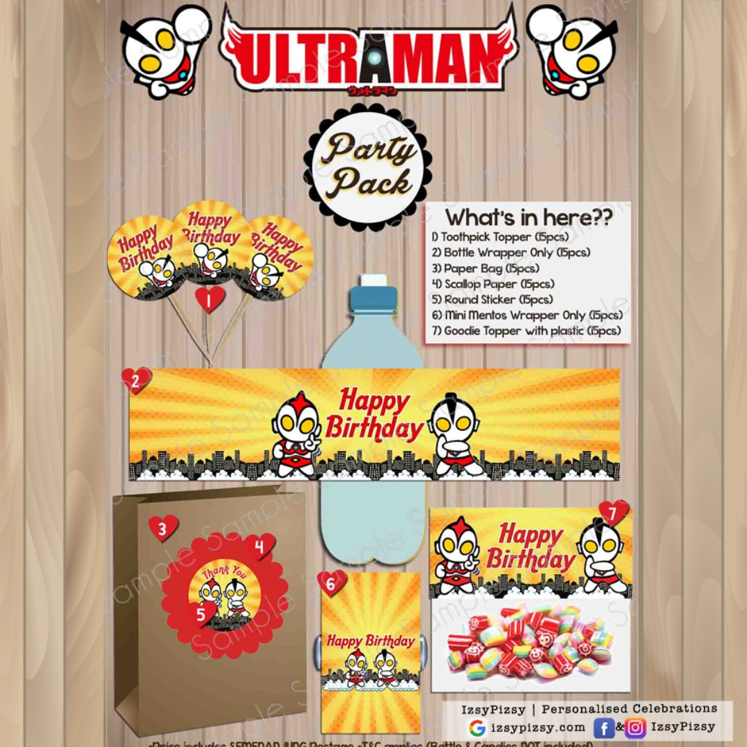 Ultraman Kids Birthday Party Pack Babies Kids Others on Carousell