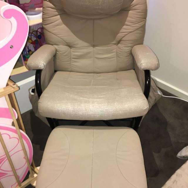 Valco rocking chair / nursing chair w/ stool