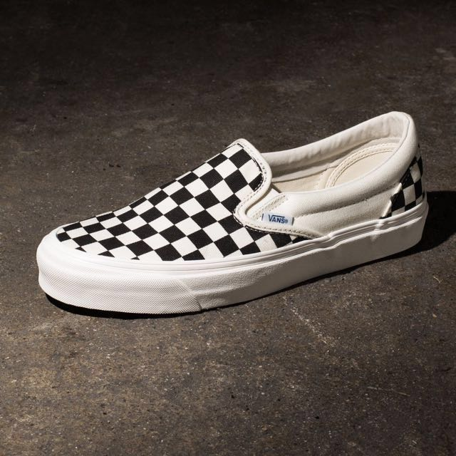 vans vault og lx slip on checkerboard
