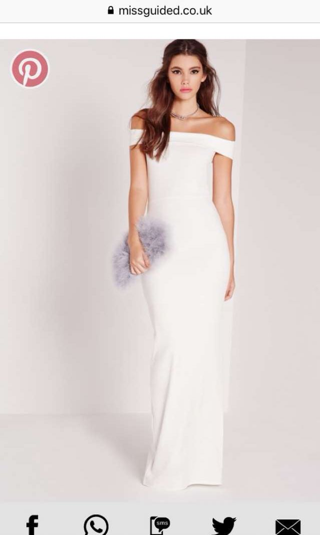 White missguided prom dress
