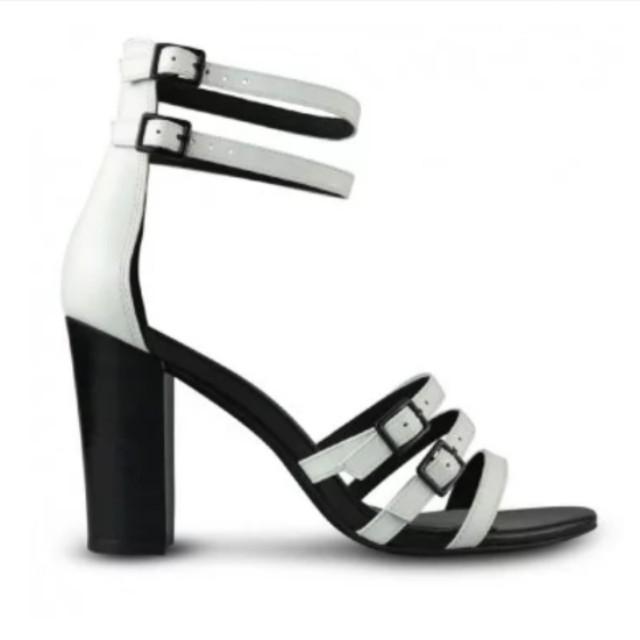 White/black Wittner heels