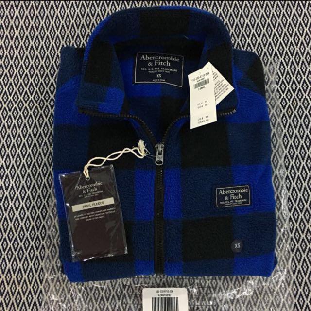 (XS, S) Authentic A&F Trail Fleece Full-Zip Mock Neck Jacket