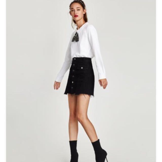 Zara 水鑽領結白色襯衫 白襯衫 鑲水鑽蝴蝶結上衣 學院風 OL上班穿 面試可穿(S)