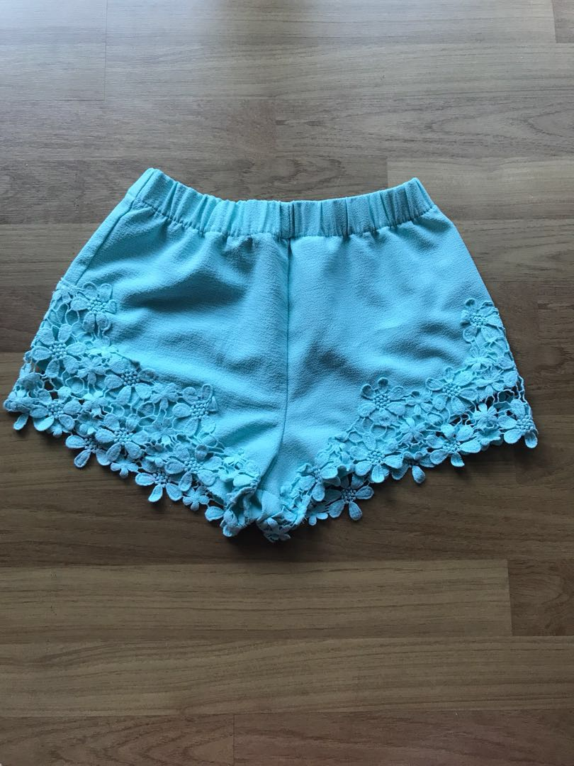 Zara mint crochet pants