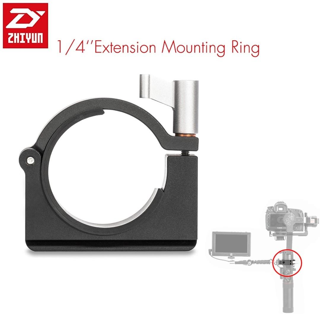 "Zhiyun Extension Ring with 1/4"" Screw Holes for Zhiyun Smooth Q, Crane M, Crane 2 Gimbal"