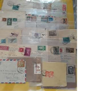50 POSTAL COVERS LOT - ALL WITH COMMEMORATIVE STAMPS - mostly different - india
