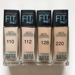 Maybelline Fit Me Matte Poreless Liquid Foundation