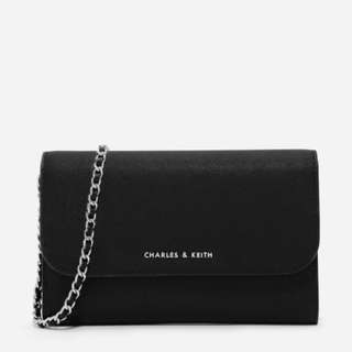 新加坡直送 包郵 Charles & Keith FRONT FLAP WALLET