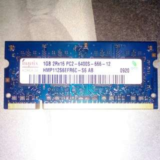 Laptop RAM Hynix 1Gb DDR2 SO-DIMM