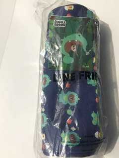 Line Dino Brown Pencil Case