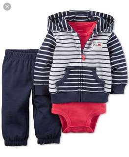 *12M* Brand New Carter's 3-Piece Little Jacket Set For Baby Boy