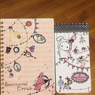 Sentimental Circus notebooks