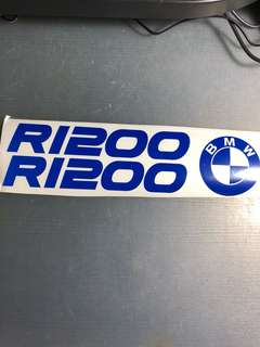 BMW 1200 blue sticker