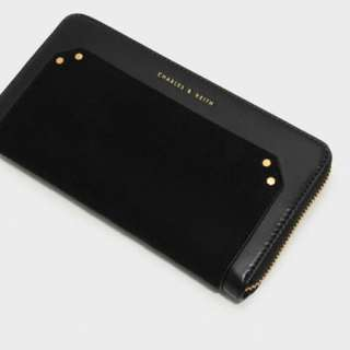 新加坡直送 包郵 Charles & Keith studded long wallet